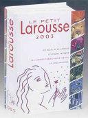 LE PETIT LAROUSSE 2003