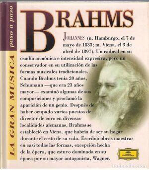 JOHANNES BRAHMS (CON CD)