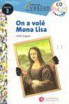 ON A VOLE MONA LISA (SIN CD) EVASION NIVEAU 3