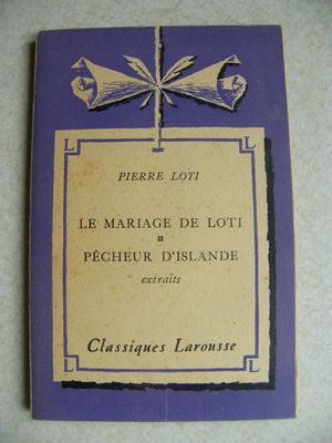 LE MARRIAGE DE LOTI; PÊCHEUR D'ISLANDE